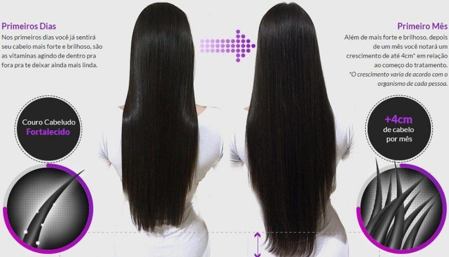 4249238d3 Vocês já ouviram falar do Luminus Hair  Um complexo vitamínico muito  comentado pela internet com a promessa de crescer o cabelo de 2-4  centímetros por mês.